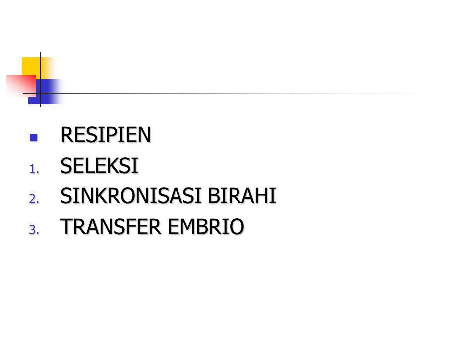 RESIPIEN SELEKSI SINKRONISASI BIRAHI TRANSFER EMBRIO 23