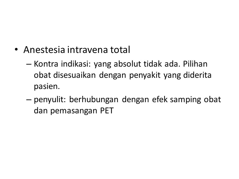 Anestesia intravena total