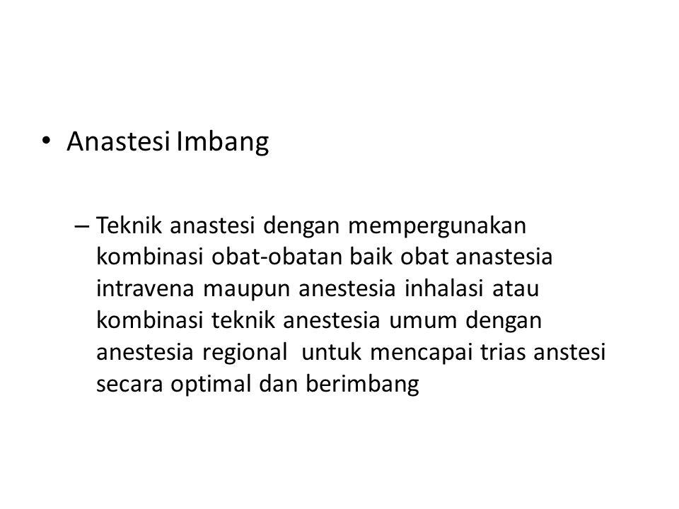 Anastesi Imbang