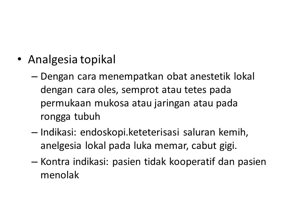 Analgesia topikal