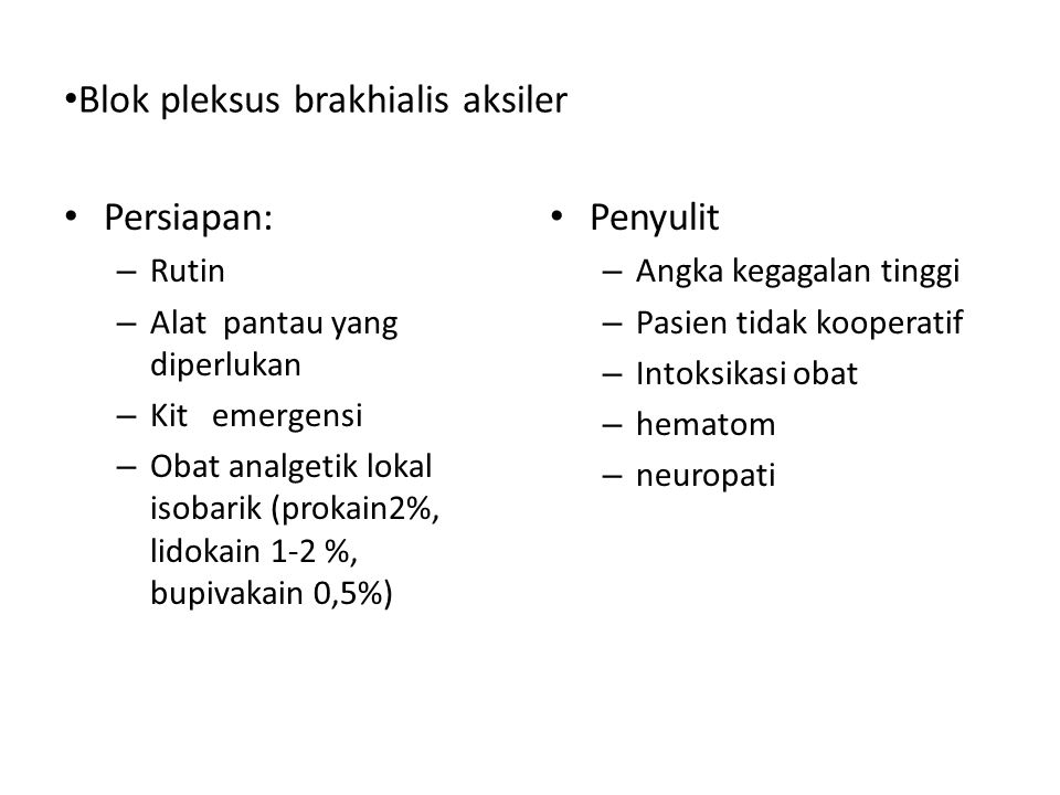 Blok pleksus brakhialis aksiler