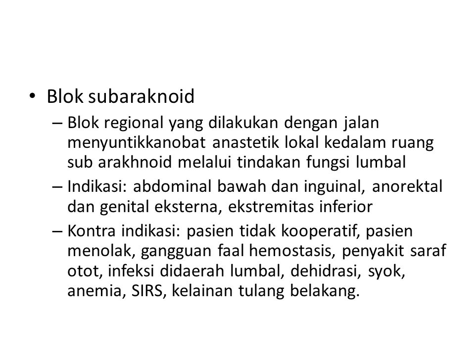 Blok subaraknoid