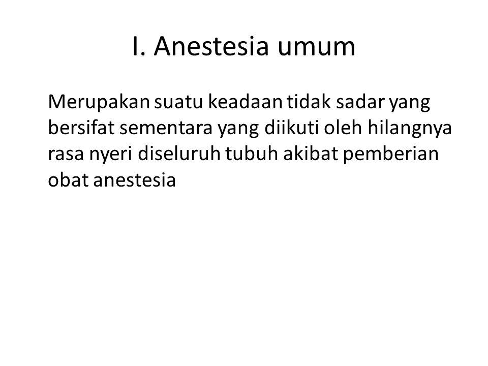 I. Anestesia umum