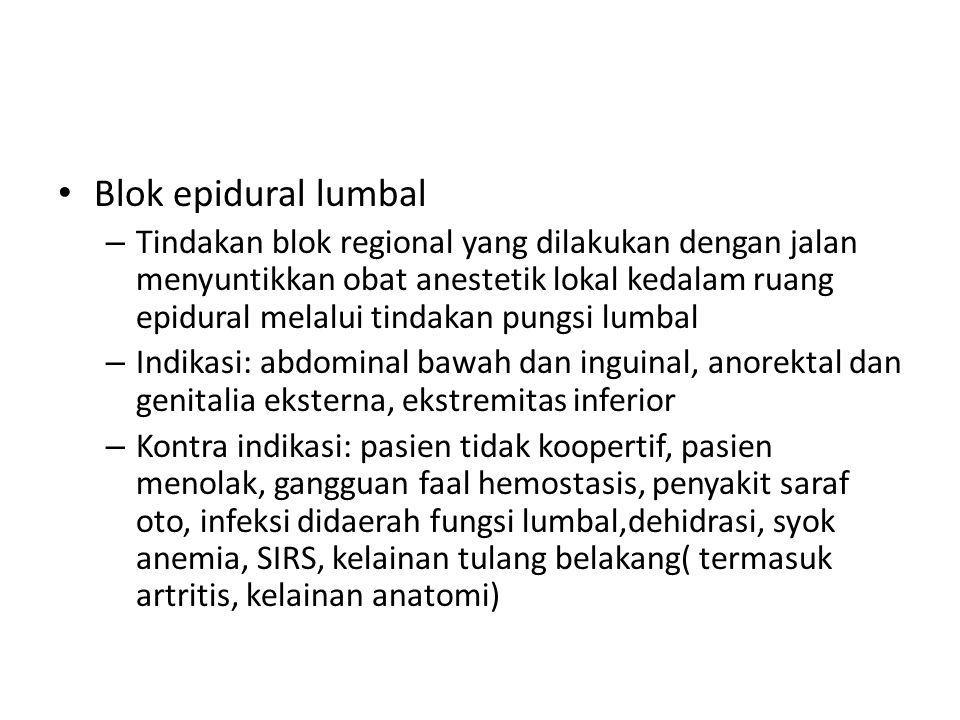 Blok epidural lumbal