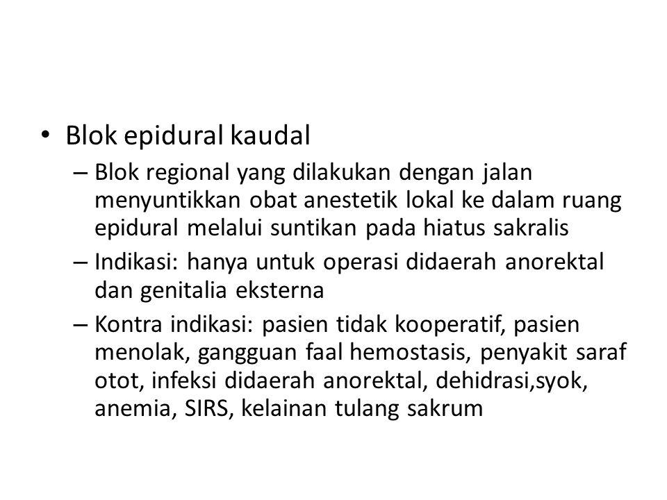 Blok epidural kaudal
