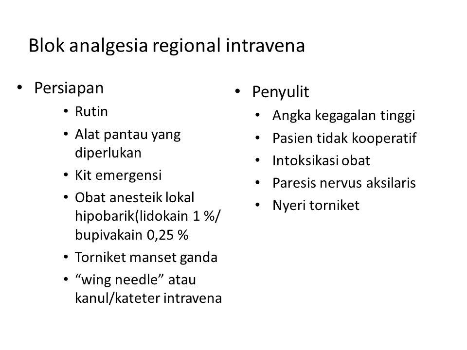 Blok analgesia regional intravena