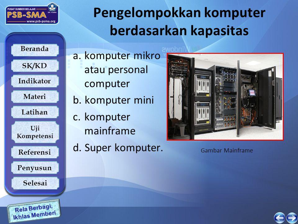 Pengelompokkan komputer berdasarkan kapasitas