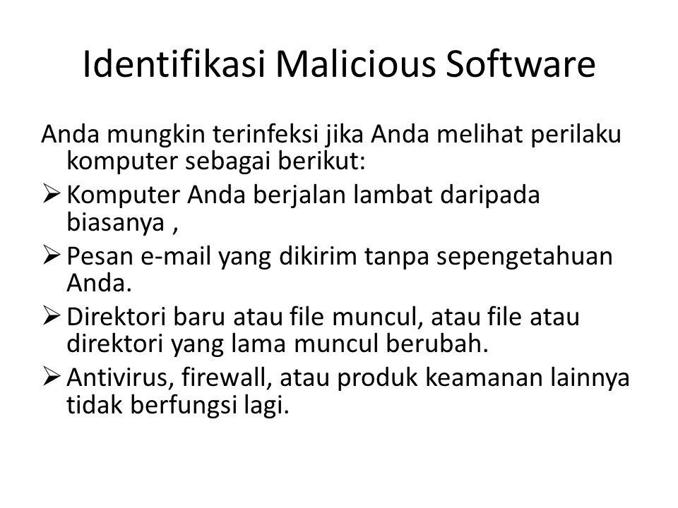 Identifikasi Malicious Software