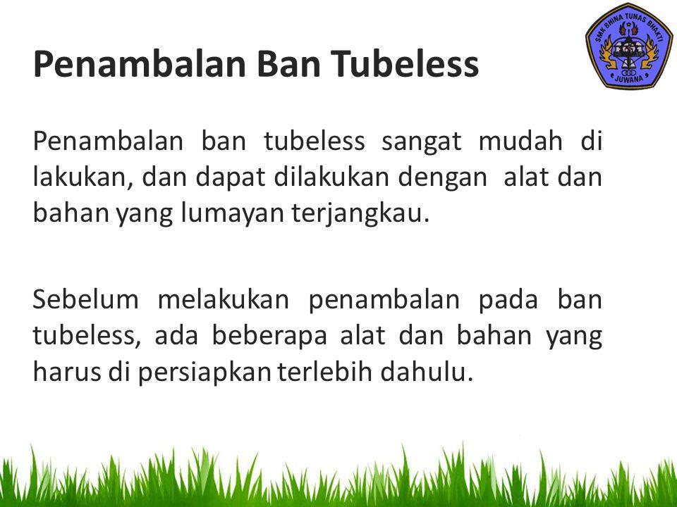 Penambalan Ban Tubeless