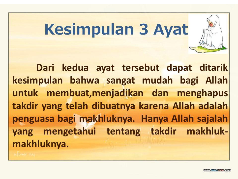 Kesimpulan 3 Ayat