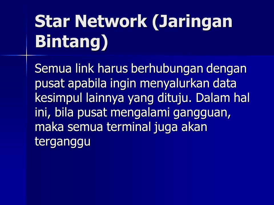Star Network (Jaringan Bintang)