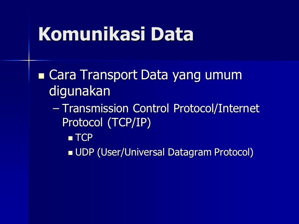 Komunikasi Data Cara Transport Data yang umum digunakan