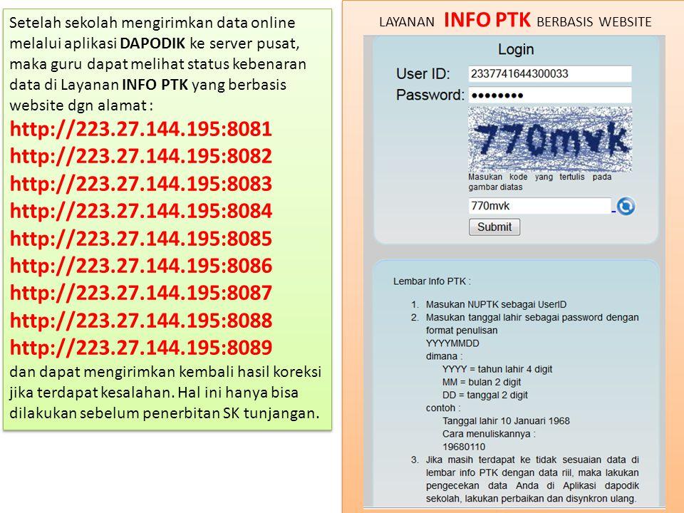 LAYANAN INFO PTK BERBASIS WEBSITE