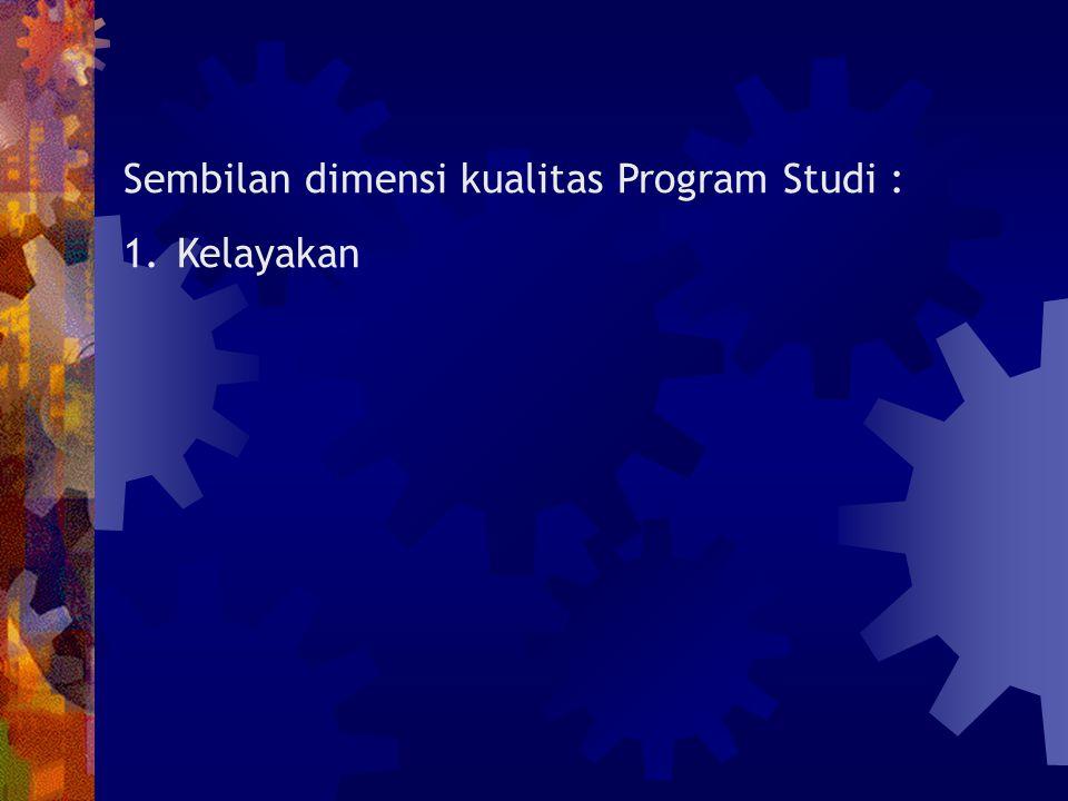 Sembilan dimensi kualitas Program Studi :