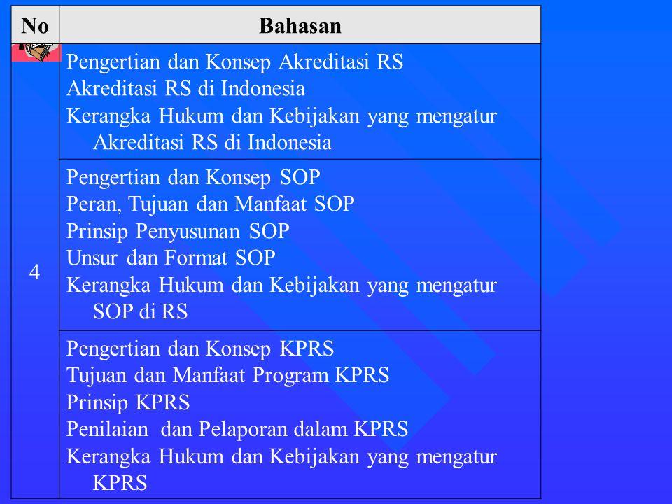 No Bahasan 4 Pengertian dan Konsep Akreditasi RS