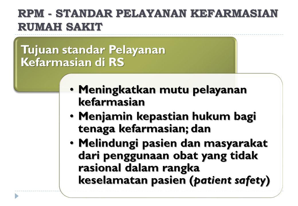 RPM - STANDAR PELAYANAN KEFARMASIAN RUMAH SAKIT