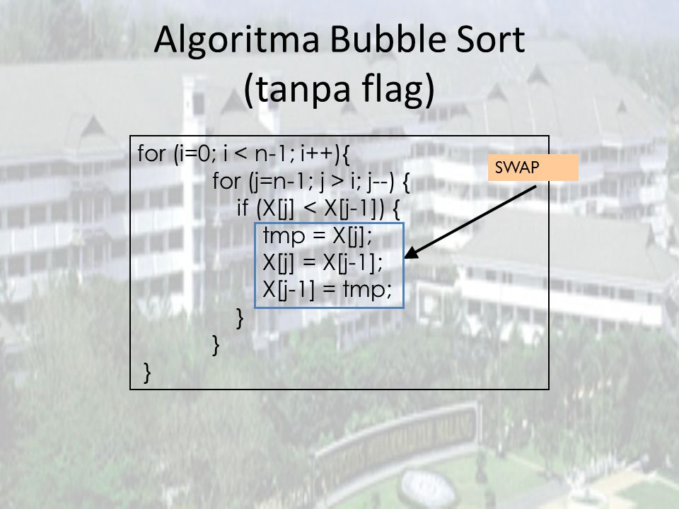 Algoritma Bubble Sort (tanpa flag)