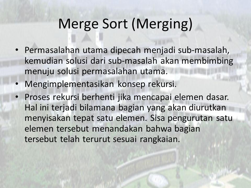Merge Sort (Merging)