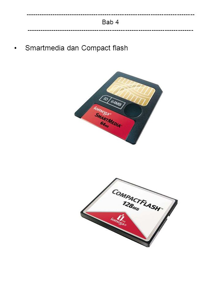 Smartmedia dan Compact flash