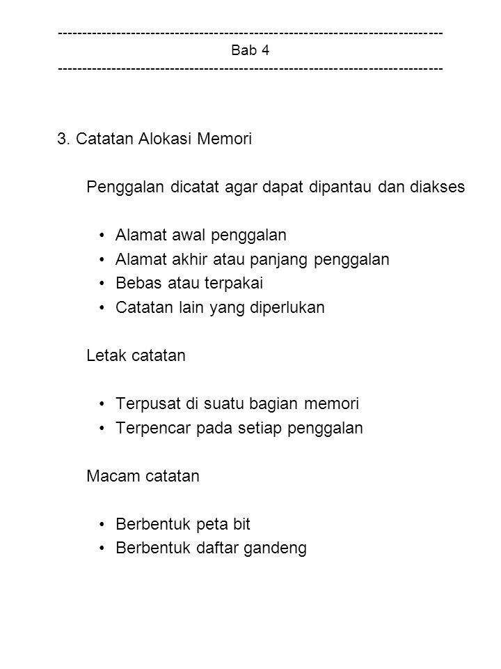 3. Catatan Alokasi Memori