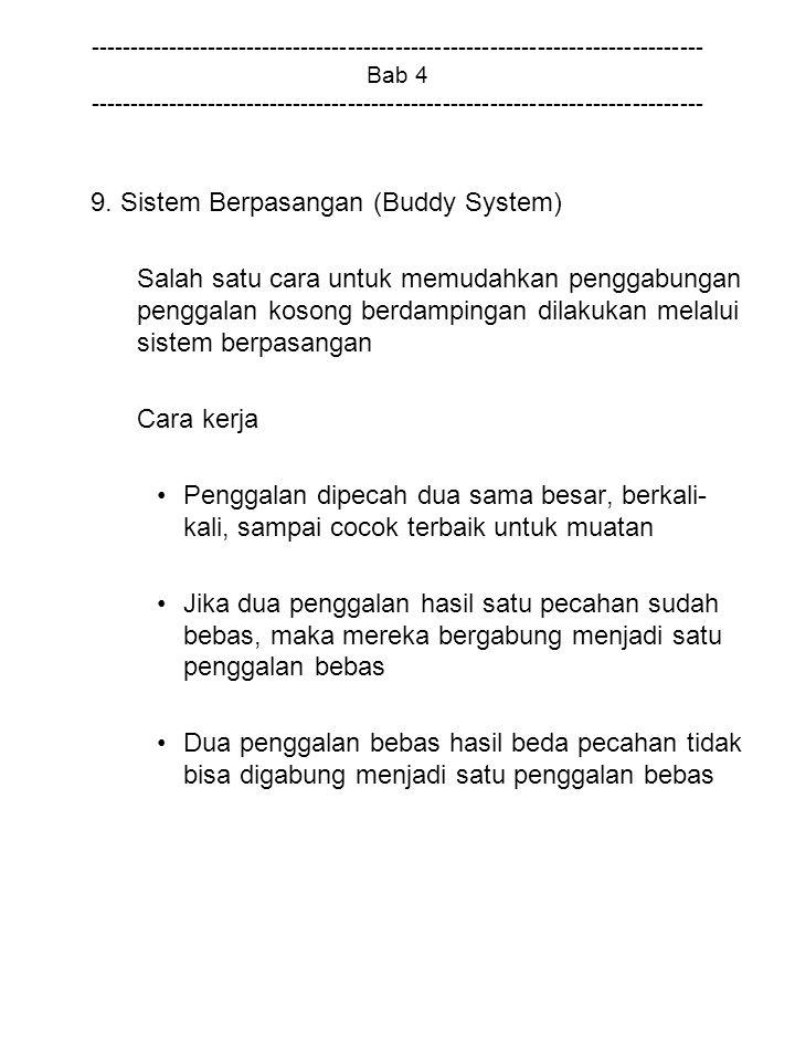 9. Sistem Berpasangan (Buddy System)
