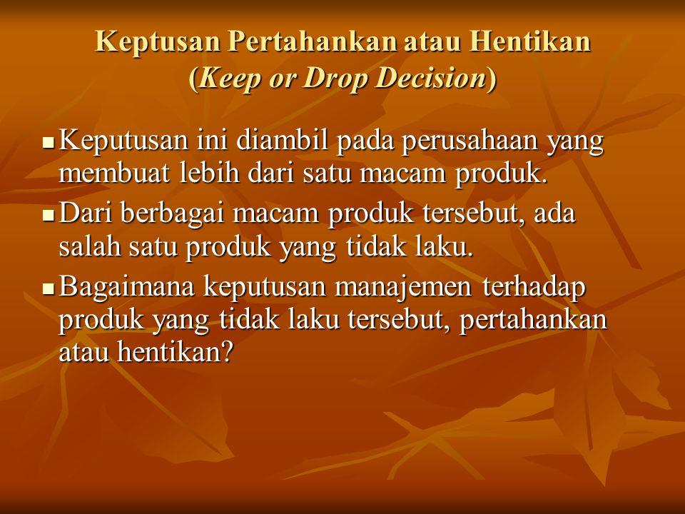Keptusan Pertahankan atau Hentikan (Keep or Drop Decision)