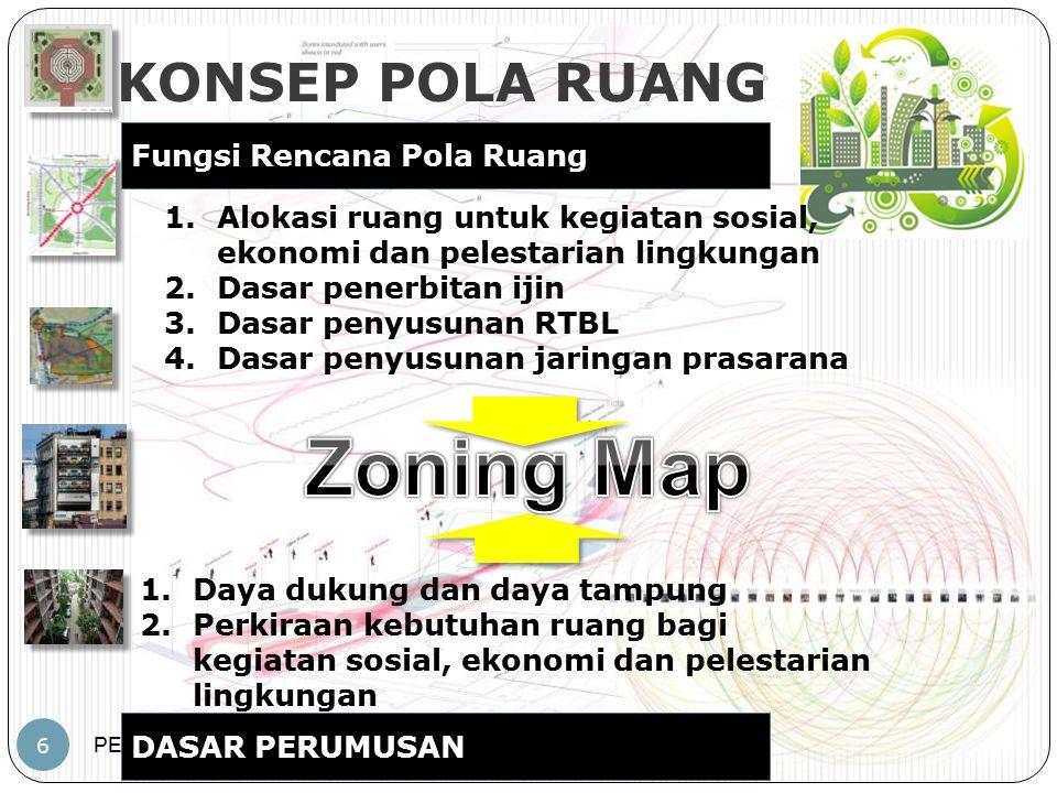 Zoning Map KONSEP POLA RUANG Fungsi Rencana Pola Ruang