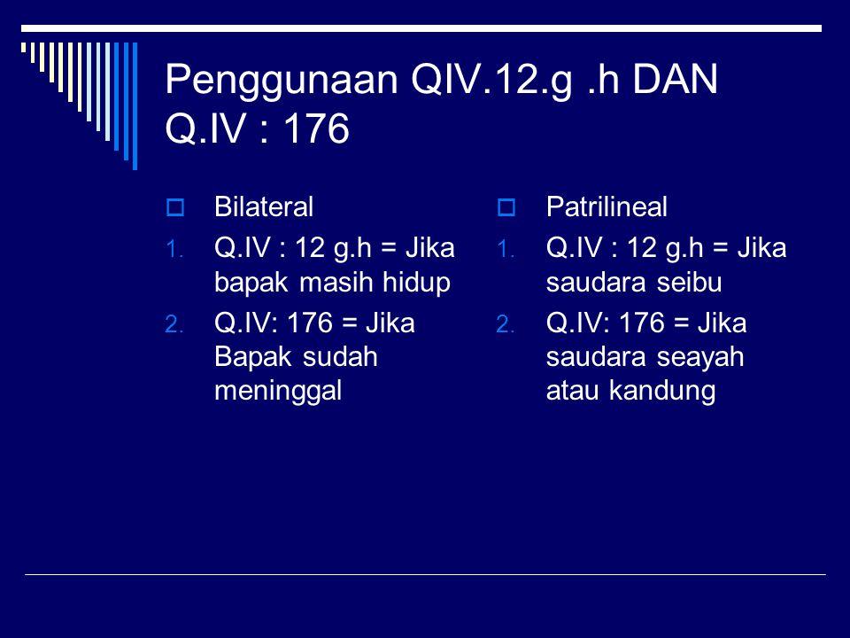 Penggunaan QIV.12.g .h DAN Q.IV : 176