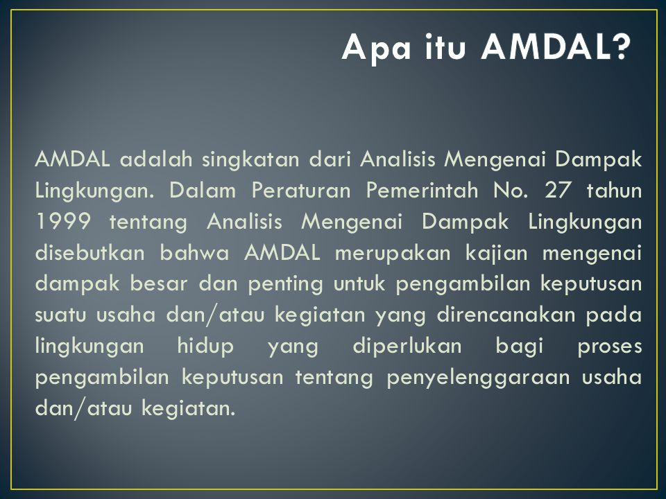 Apa itu AMDAL