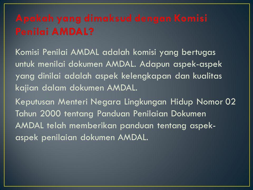 Apakah yang dimaksud dengan Komisi Penilai AMDAL