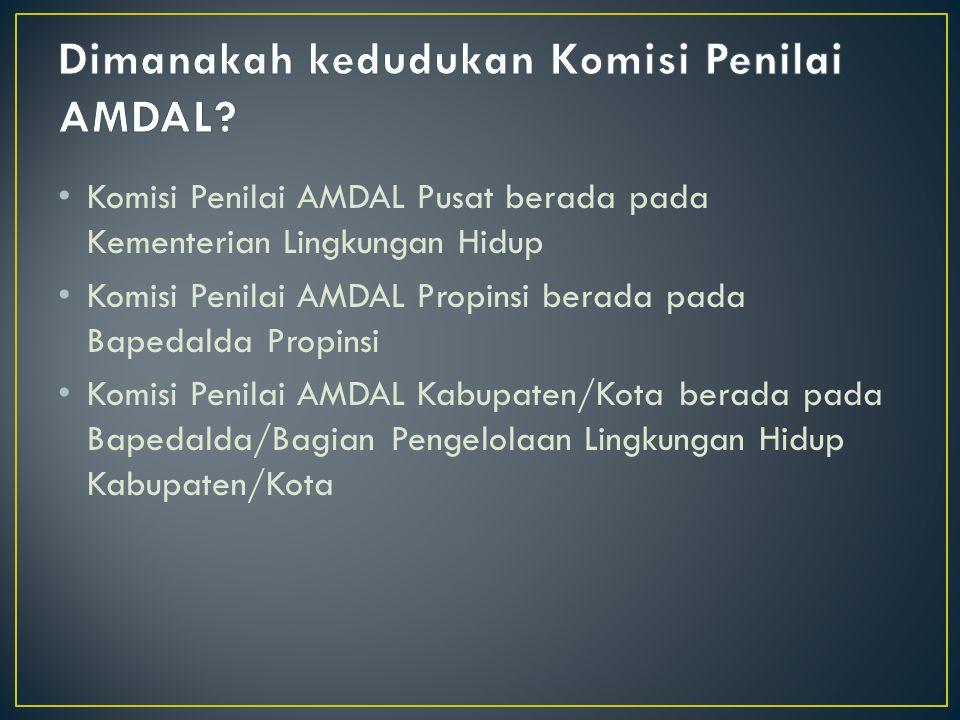 Dimanakah kedudukan Komisi Penilai AMDAL