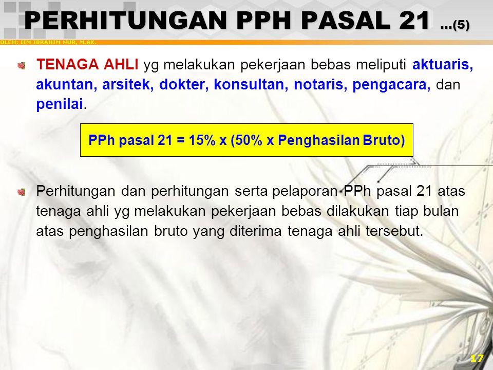 PERHITUNGAN PPH PASAL 21 …(5)
