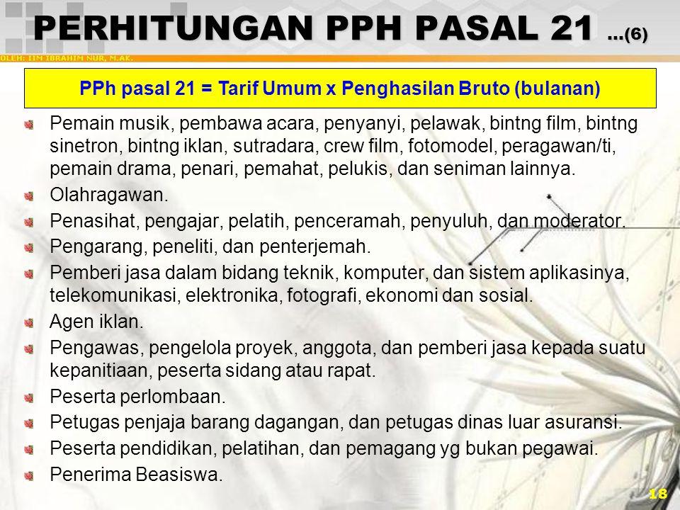 PERHITUNGAN PPH PASAL 21 …(6)