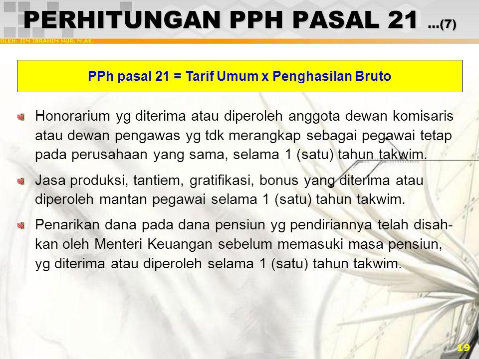 PERHITUNGAN PPH PASAL 21 …(7)