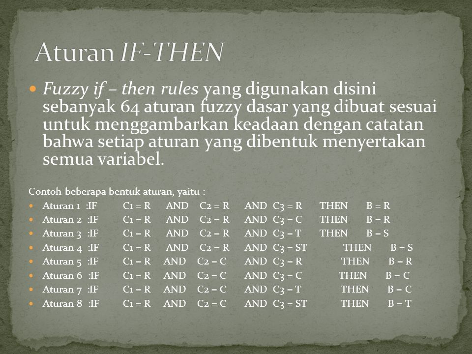 Aturan IF-THEN