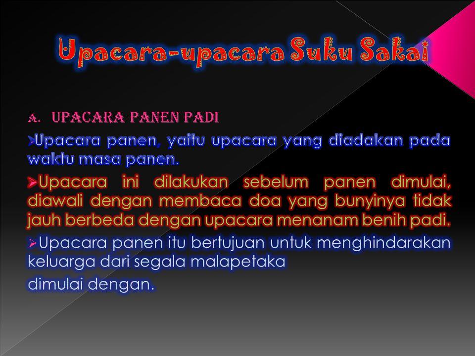 Upacara-upacara Suku Sakai