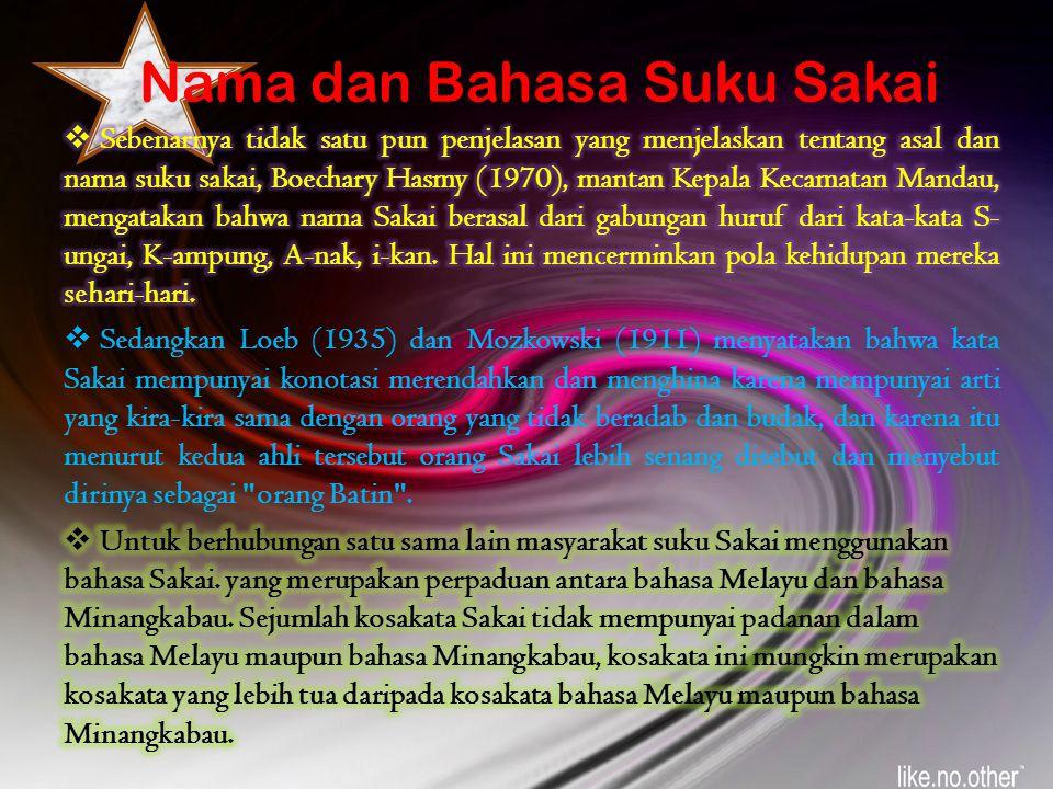 Nama dan Bahasa Suku Sakai