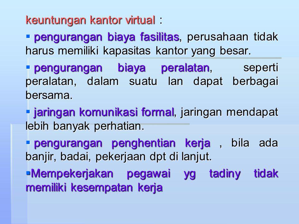 keuntungan kantor virtual :
