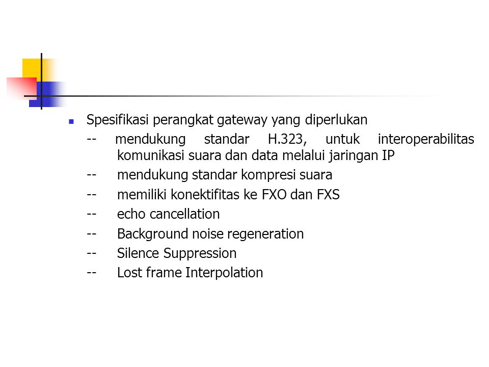 Spesifikasi perangkat gateway yang diperlukan