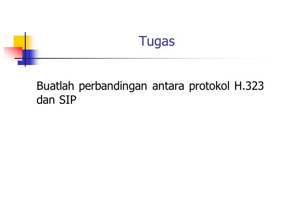 Tugas Buatlah perbandingan antara protokol H.323 dan SIP