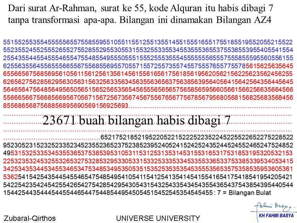 23671 buah bilangan habis dibagi 7