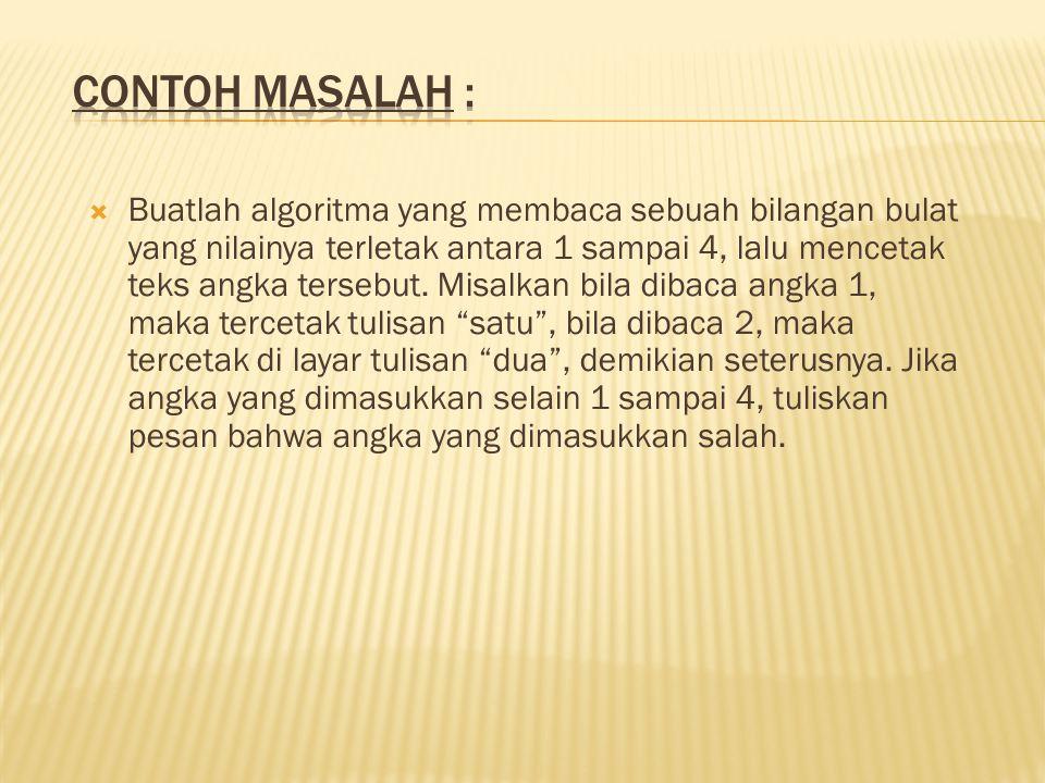 Contoh Masalah :