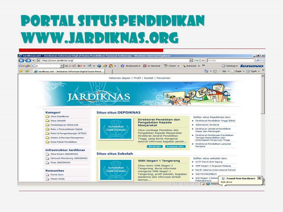 Portal SiTUS PENDIDIKAN www.jardiknas.org