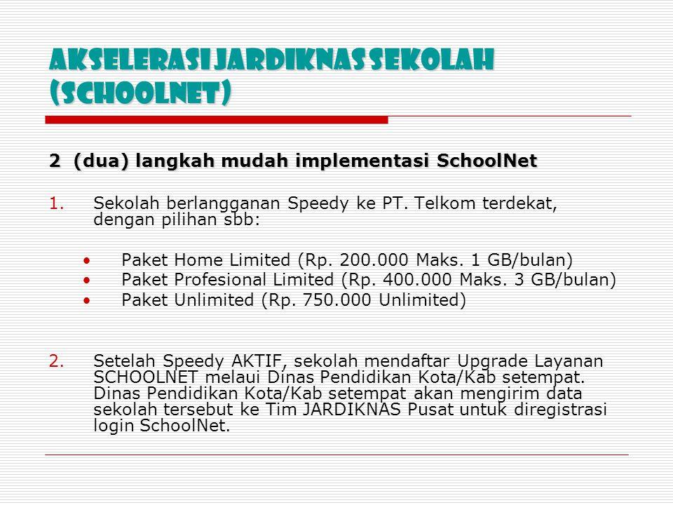 AKSELERASI jardiknas Sekolah (SCHOOLNET)