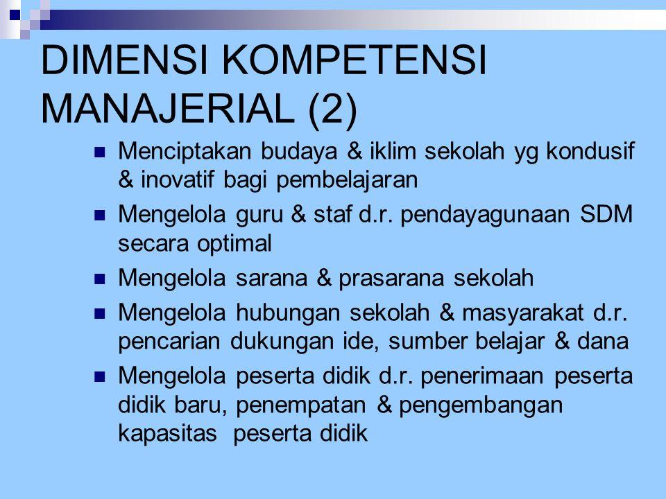 DIMENSI KOMPETENSI MANAJERIAL (2)