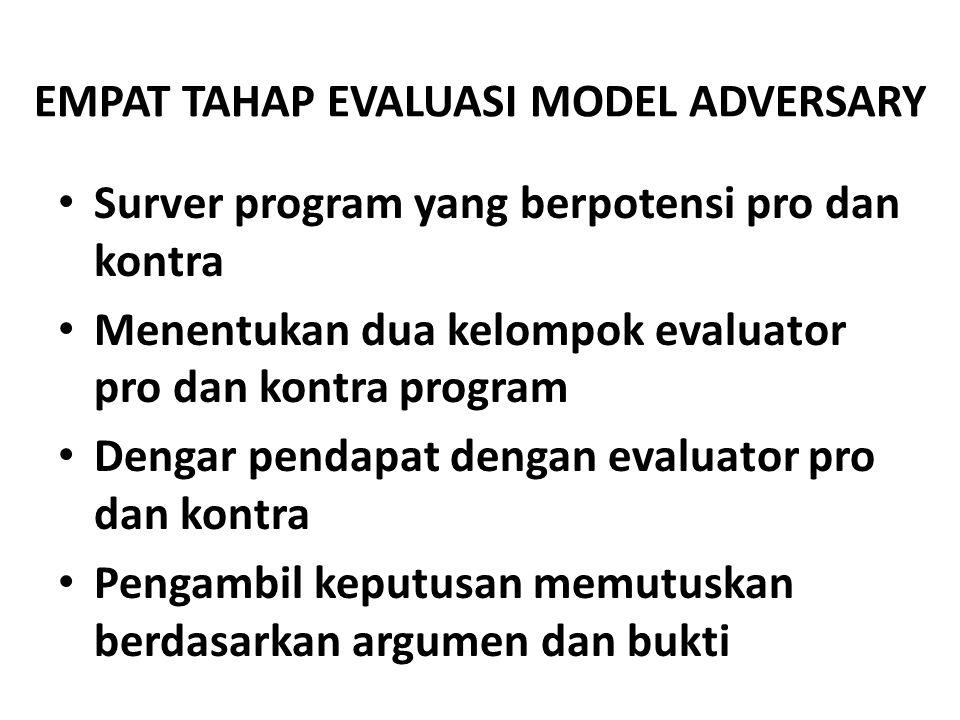 EMPAT TAHAP EVALUASI MODEL ADVERSARY