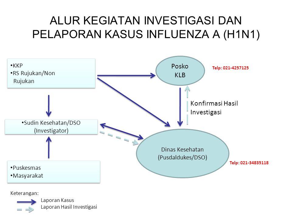 ALUR KEGIATAN INVESTIGASI DAN PELAPORAN KASUS INFLUENZA A (H1N1)