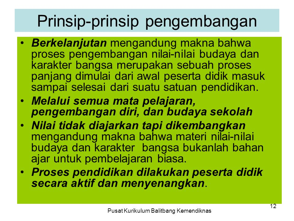 Prinsip-prinsip pengembangan