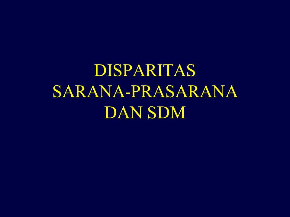 DISPARITAS SARANA-PRASARANA DAN SDM
