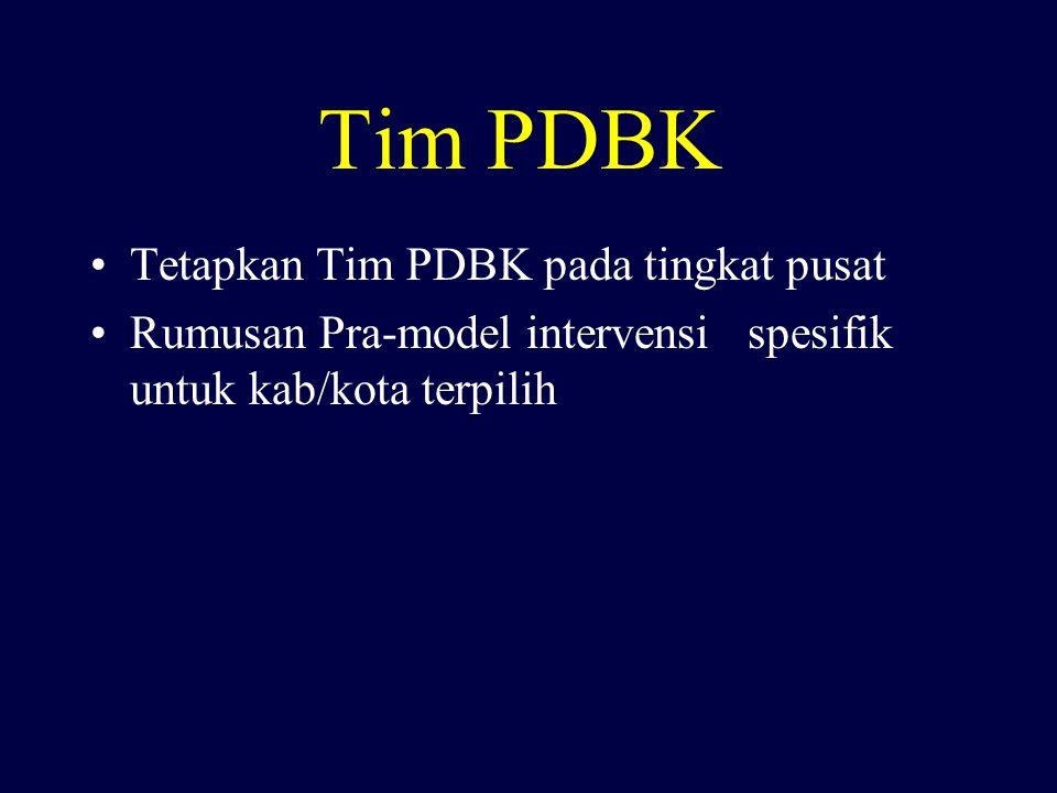 Tim PDBK Tetapkan Tim PDBK pada tingkat pusat